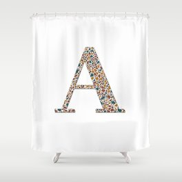 AFE Terrazzo Pattern 13 Letter A Shower Curtain
