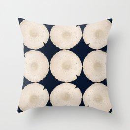 Modern Mushroom Navy Throw Pillow