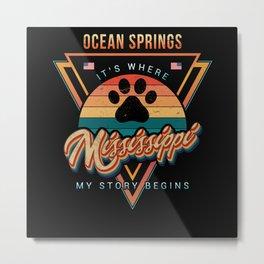 Ocean Springs Mississippi Metal Print