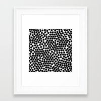 gold dots Framed Art Prints featuring Dots by Patterns and Textures