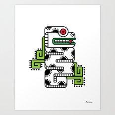 Koru-Fern Serpent Art Print