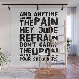 Hey Jude Lyrics Wall Mural