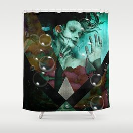 """The witch of the water forest"" Shower Curtain"