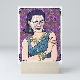 Jolene With Veil Mini Art Print