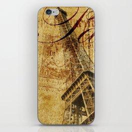 Paris vintage poster. iPhone Skin