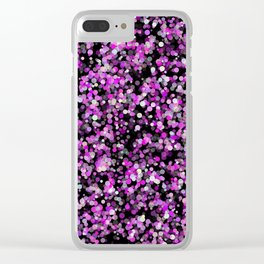 Pink, White and Black bubble texture Clear iPhone Case