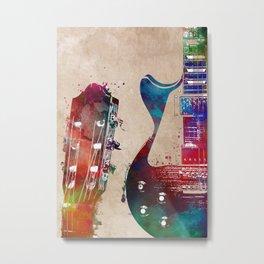 Guitar art 24 #guitar #music Metal Print
