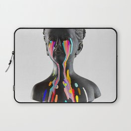 The Girl With Stars In Her Eyes (On White) Laptop Sleeve