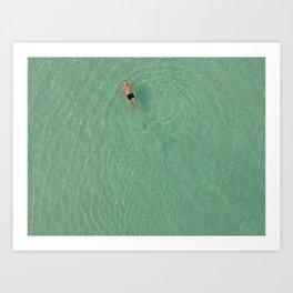 Aerial Swim Art Print