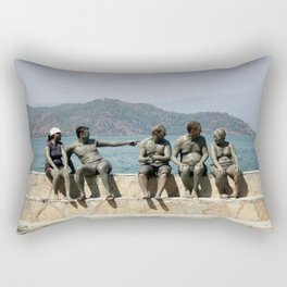 People Taking A Mudbath - Sultaniye, Turkey Rectangular Pillow