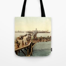 1890 Victorian Jetty in Margate Kent Tote Bag