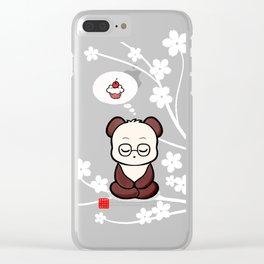 Panda's Attachment Clear iPhone Case