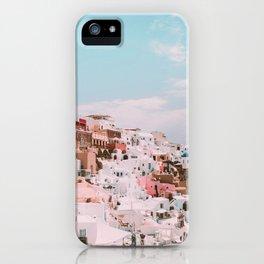 Bright Houses in Santorini, Greece  iPhone Case