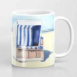 Sylt Watercolor Beach Painting Coffee Mug