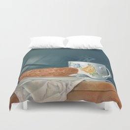 Breakfast of Champions (donut and coffee) Duvet Cover
