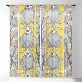 Madhubani Fish Flower  Sheer Curtain