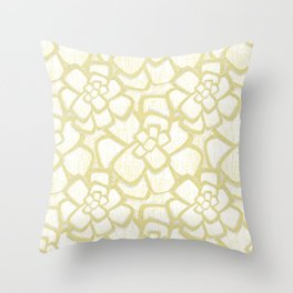 Brom yellow (in repeat) Throw Pillow