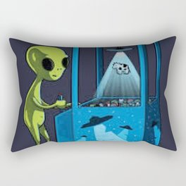 Alien Playing Rectangular Pillow