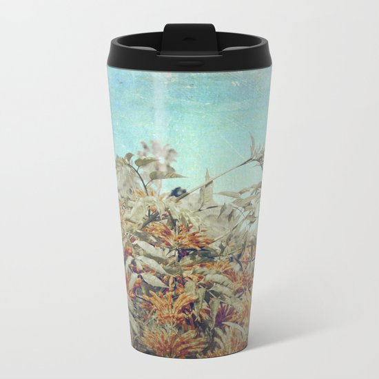 Vintage Garden Metal Travel Mug