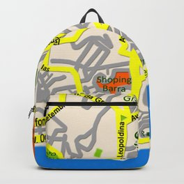 Salvador, Brasil Map Design Backpack