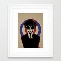 mod Framed Art Prints featuring Mod by LunaLunaRiotGirl