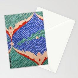BLUE GREEN IZNIKY Stationery Cards
