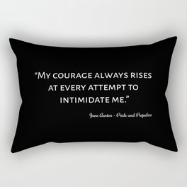 The Pride and Prejudice Quote I Rectangular Pillow