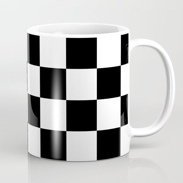 Black & White Checkered Pattern Coffee Mug