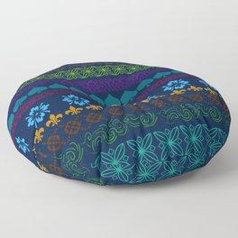 Mountain Midnight Folk Art Floor Pillow