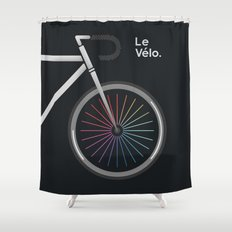 Le Velo Noir Shower Curtain