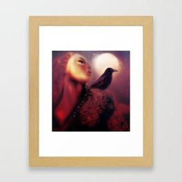 As the Crow flies [Warm reds version] Framed Art Print