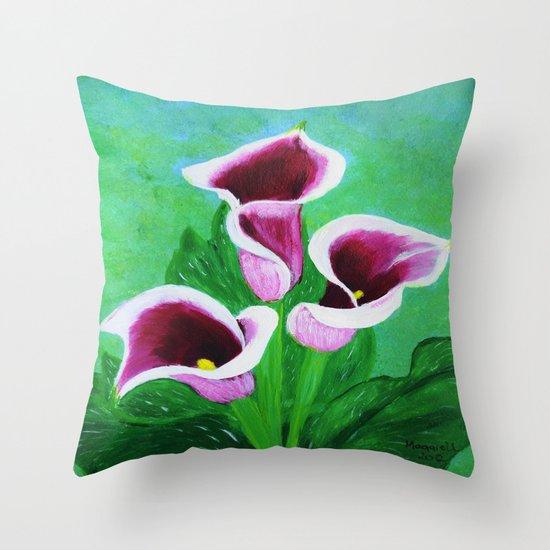 Kala Lilies  Throw Pillow