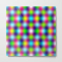 Colorful Algorithmic Pattern P01 Metal Print