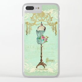 Mannequin Rose Clear iPhone Case