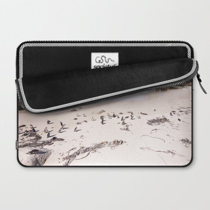 Penguins on Boulders Beach in Cape Town, South Africa Laptop Sleeve