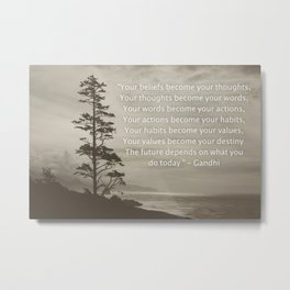 values Metal Print