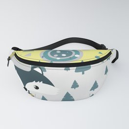 Cute fox ready for winter Fanny Pack
