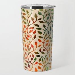 Pattern of Small Autumn Leaves Travel Mug