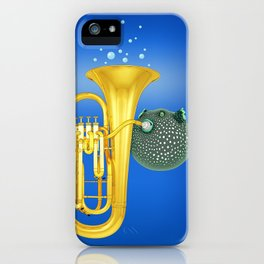 Puffer Fish Playing Tuba iPhone Case