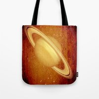 planet Tote Bags featuring Planet by Fine2art