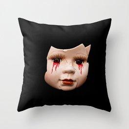 Blood Doll Face II Throw Pillow