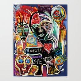 Muscle is Life Street Art Graffiti Love Poster