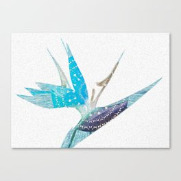 Bird of Paradise Blue Neo-Tribal Detail Canvas Print