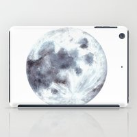 the moon iPad Cases featuring Moon by Bridget Davidson