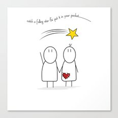 Jibsey & Jess. Catch A Falling Star Canvas Print