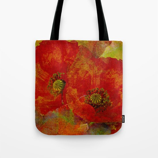 Poppies(red&orange). Tote Bag
