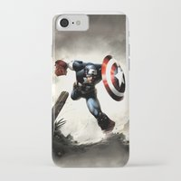 iphone 5 case iPhone & iPod Cases featuring Captain America Case Designed for iPhone 5 by dadostirlo