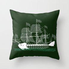 Cutter Fish Throw Pillow