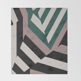 ASDIC/SONAR Dazzle Camouflage Graphic Design Throw Blanket