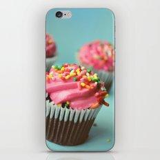 PINK CUPCAKES PHOTOGRAPH iPhone & iPod Skin